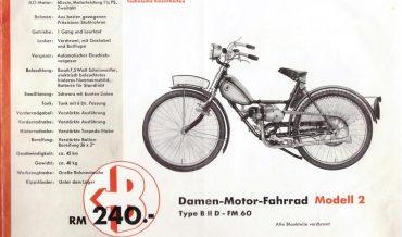 Bastert Werke Bielefeld Motorrad-Programm (Vorkrieg)