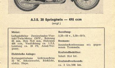 AJS 20 Springtwin
