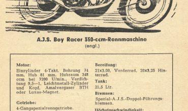 AJS Boy Racer 350ccm Rennmaschine