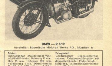 BMW R 67/2 (+ R67/2 Gespann)
