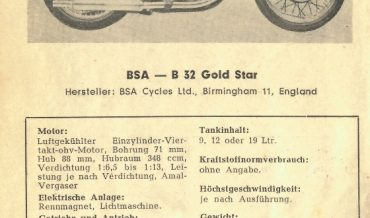 BSA B 32 Gold Star