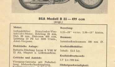 BSA Modell B 33