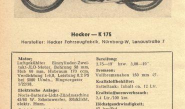 Hecker K 175 (175 S)