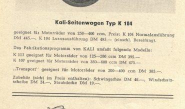 KALI Typ K 104