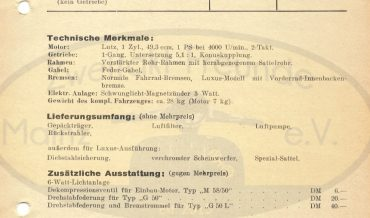 Lutz Mofa Typ G 50 & G 50 L