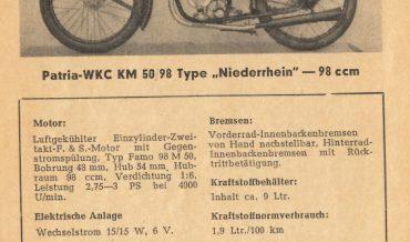 "Patria – WKC KM 50/98 Type ""Niederrhein"""