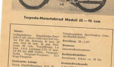Torpedo Motorfahrrad Modell 63