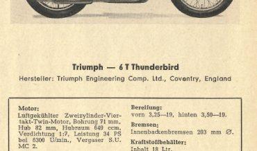 Triumph 6T Thunderbird