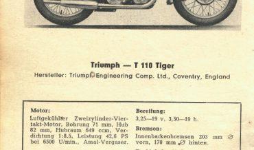 Triumph T 110 Tiger