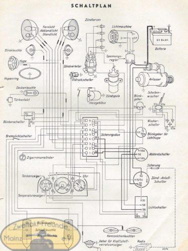 Schaltplan Ford Taunus 12M (Mit Wasserzeichen) 3-1