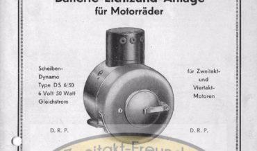 Noris Batterie-Lichtzünd-Anlage Type DS 6/50