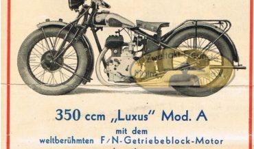 """FN 350 """"Luxus"""" Modell A und B (1932)"""