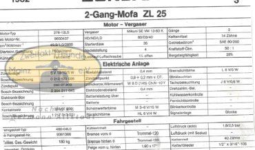 Zündapp 2 Gang Mofa ZL 25