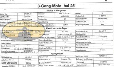 Zündapp 3 Gang Mofa Hai 25