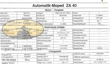 Zündapp Automatik Mofa ZA 40