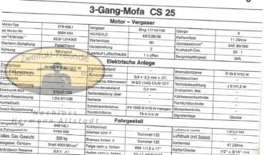 Zündapp 3-Gang Mofa CS 25