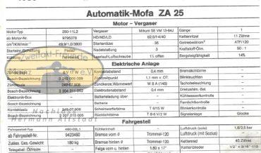 Zündapp Automatik Mofa ZA 25