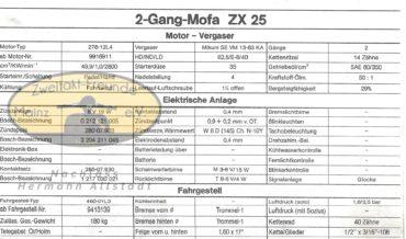 Zündapp Automatik Mofa ZX 25