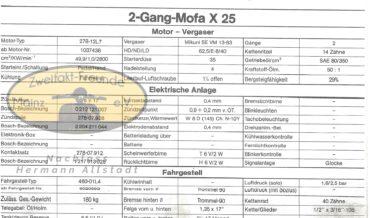 Zündapp Automatik Mofa X 25