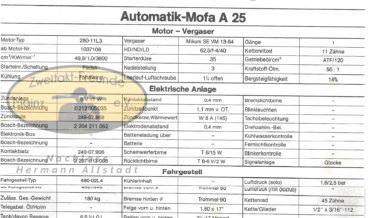 Zündapp Automatik Mofa A 25