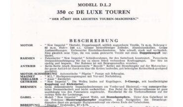 New Imperial Modell D.L.2 De Luxe Touren