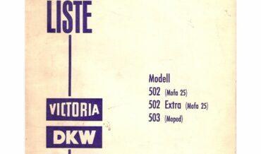 DKW Mofa 502 (502 Extra, 503) [Victoria 502]